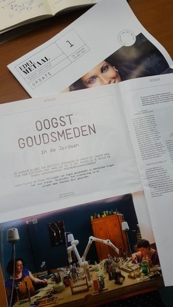Oogst in de media,  In vakblad Edelmetaal, oktober 2015