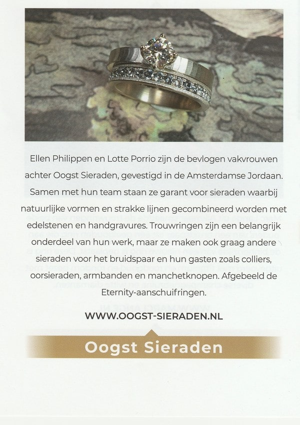 Oogst in de media, In vakblad Edelmetaal, december 2019, eternity ring