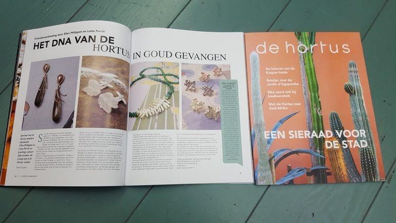 Oogst in de media,. In het Hortus Magazine, dec 2016