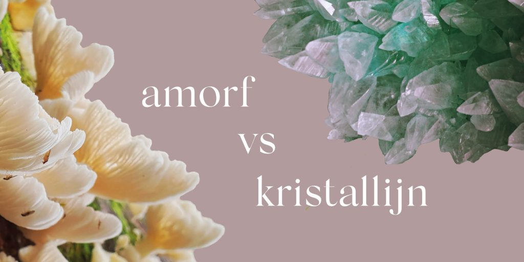 Amorf vs kristallijn. Nieuwe Oogst sieraden collectie. Oogst goudsmid Amsterdam