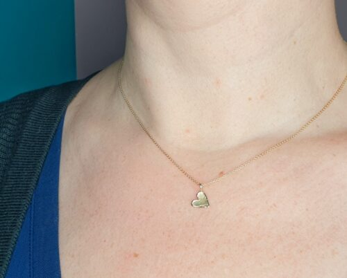 Rosé gold 'Heart' pendant from the Oogst goldsmith studio.