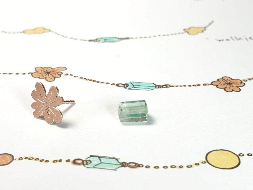 Schets van een sieraad cadeau geven. Design van Oogst Sieraden in Amsterdam