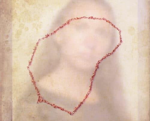 Roodgouden collier Bessen. Rose gold necklace Berries. Oogst goudsmid Amsterdam